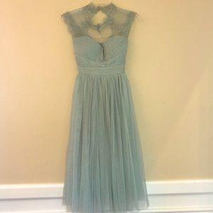 ModCloth Geode Tulle Midi Mint Dress Lace XS